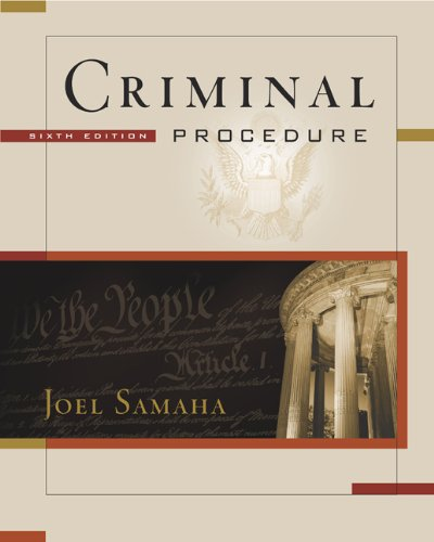 9780534629281: Criminal Procedure (with CD-ROM and InfoTrac)