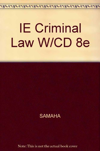 9780534629922: IE Criminal Law W/CD 8e