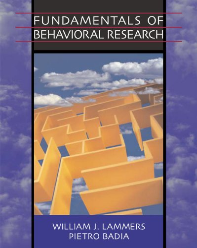9780534630690: Fundamentals of Behavioral Research (with Infotrac) [With Infotrac]