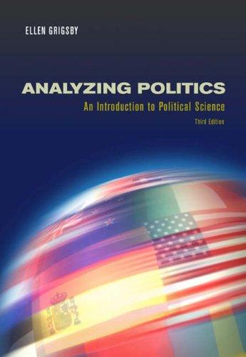 9780534630775: Analyzing Politics (with InfoTrac)