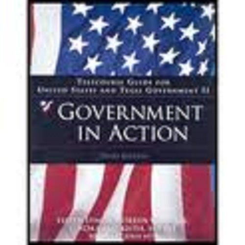 Telecourse Guide: Government in Action, US Government II/Texas Government II for Cummings/Wise's Democracy Under Pressure, 10th (0534630987) by Milton C. Cummings; David Wise
