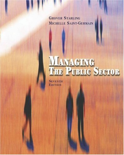 9780534631505: Managing the Public Sector