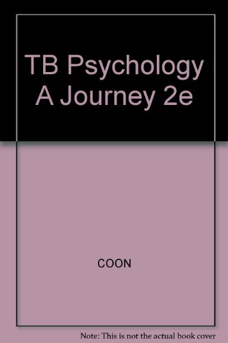 TB Psychology A Journey 2e (0534632726) by [???]