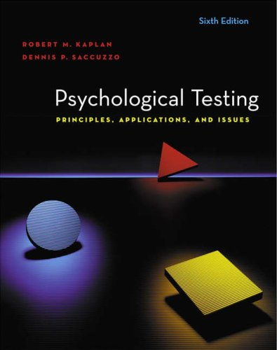 9780534633066: Psychological Testing: Principles, Applications, And Issues