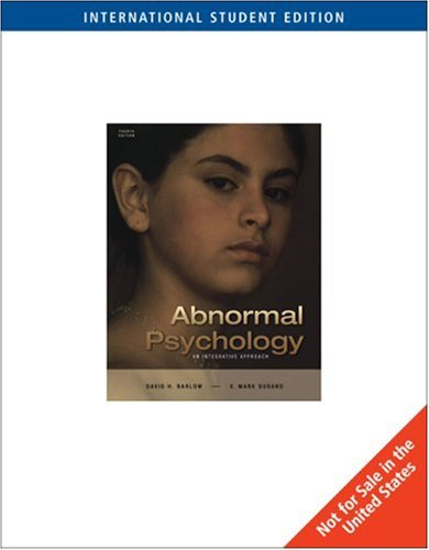 9780534633561: Abnormal Psychology (Ise)
