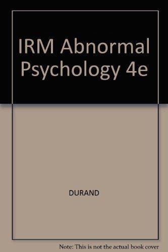 9780534633677: IRM Abnormal Psychology 4e