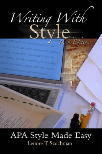 9780534634322: Writing with Style: APA Style Made Easy (with InfoTrac)