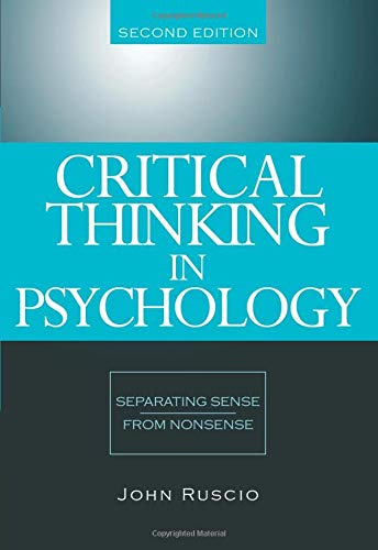 9780534634599: Critical Thinking In Psychology: Separating Sense From Nonsense