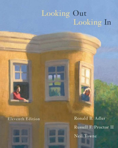 Looking Out, Looking In 9780534636289 Used by more than a million readers, LOOKING OUT, LOOKING IN has been the leading interpersonal communication text for almost 30 years. Written in a reader-friendly voice that links scholarship to students' everyday lives, this popular text motivates students to improve their interpersonal skills and sharpen their critical understanding of the process of communication. Through thoughtful, diverse examples that include fine art, music, poetry, film, and more, students can consistently see the importance of interpersonal communication and how it affects their society and their lives.