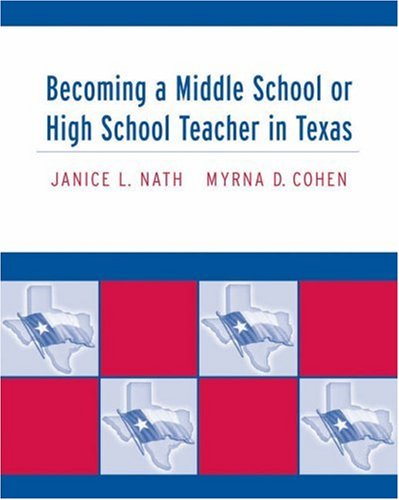 9780534638016: Becoming a Middle School or High School Teacher in Texas
