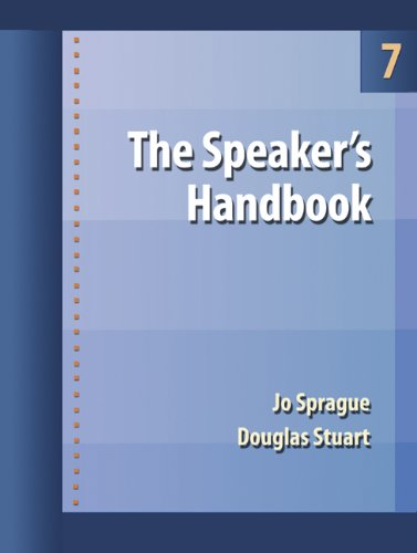 The Speaker's Handbook (with CD-ROM and InfoTrac) (Wadsworth Series in Communication Studies) (0534638805) by Sprague, Jo; Stuart, Douglas