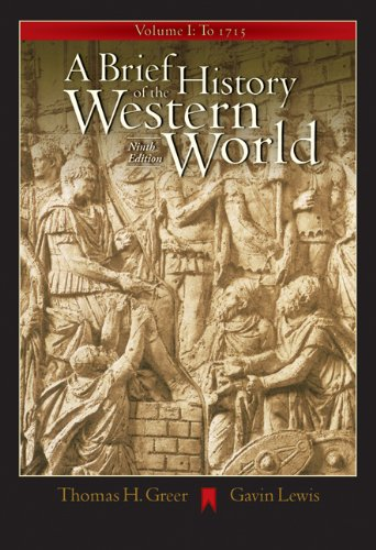 9780534642372: A Brief History of the Western World, Volume I: To 1715 (with CD-ROM and InfoTrac)