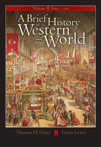 9780534642389: A Brief History of the Western World, Volume II: Since 1300 (with CD-ROM and InfoTrac)