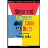 9780534708290: Sense and Nonsense about Crime and Drugs-Textbook ONLY