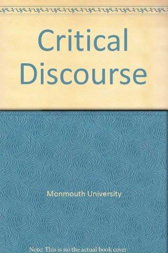 9780534721824: Critical Discourse