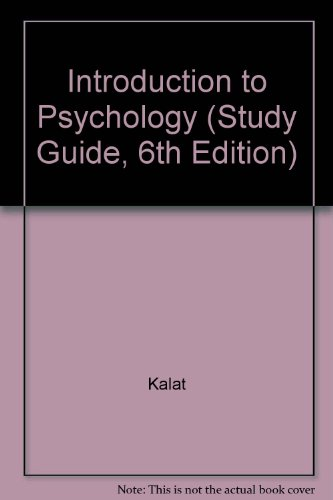 9780534726348: Introduction to Psychology (Study Guide, 6th Edition)