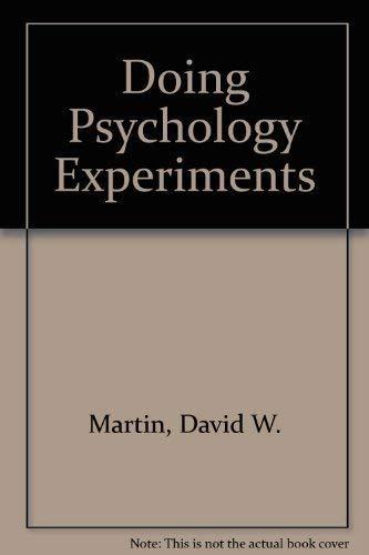 9780534748104: Doing Psychology Experiments