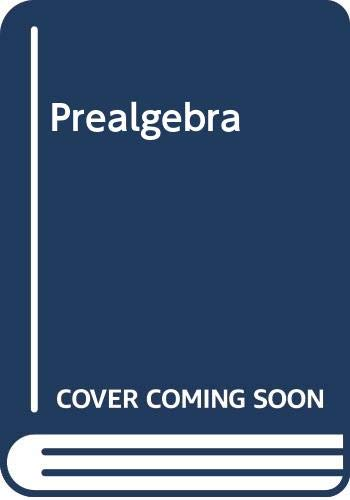 Prealgebra (9780534782023) by Alan S. Tussy