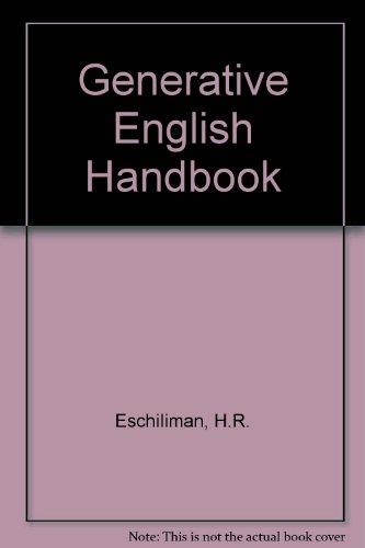 9780534803308: Generative English Handbook