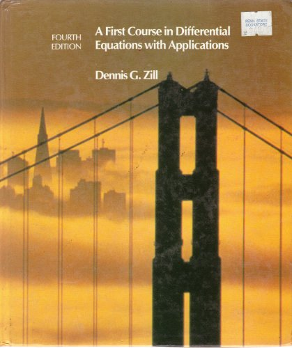 9780534915681: First Course in Differential Equations with Applications