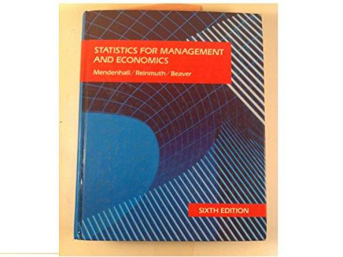 9780534916589: Statistics for Management and Economics