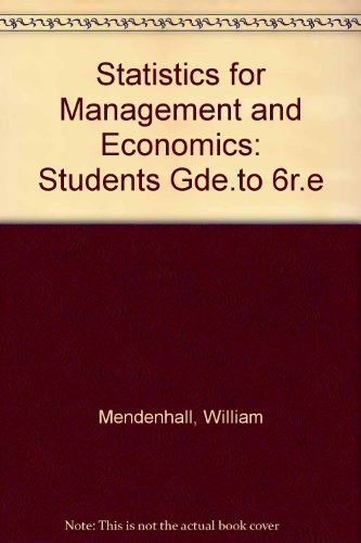 9780534916596: Statistics for Management and Economics: Students Gde.to 6r.e