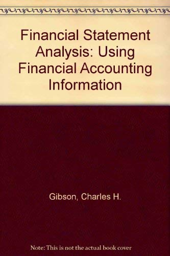 9780534917388: Financial Statement Analysis