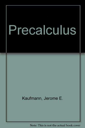 9780534920074: Precalculus (The Prindle, Weber & Schmidt series in mathematics)