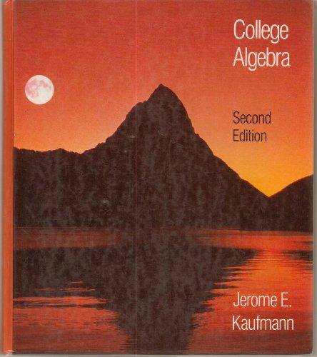 9780534920951: College Algebra