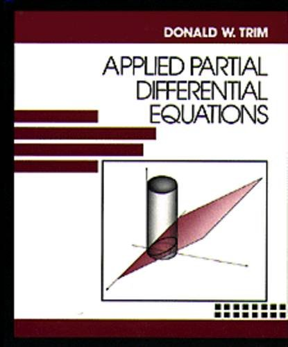 9780534921347: Applied Partial Differential Equations (The Prindle, Weber & Schmidt series in mathematics)