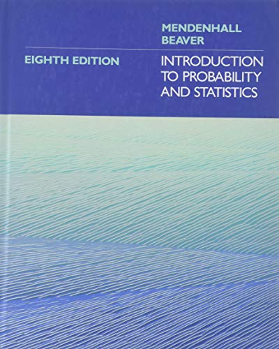 Introduction to Probability and Statistics: Mendenhall, William