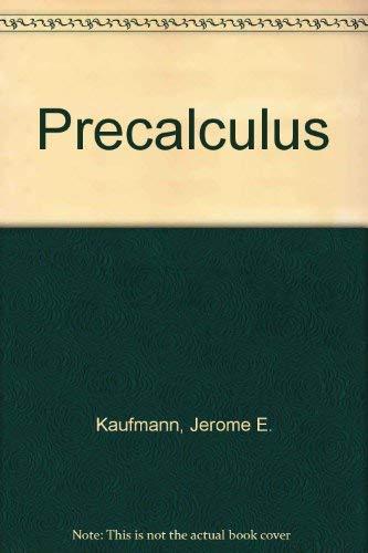 9780534924744: Precalculus (The Prindle, Weber & Schmidt series in mathematics)