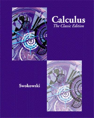 9780534924928: Calculus with Analytic Geometry