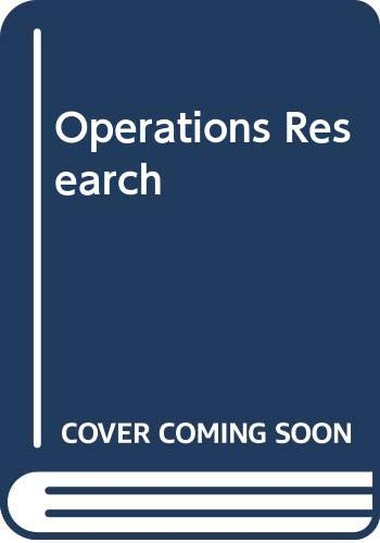 9780534924959: Operations Research (Business Statistics)