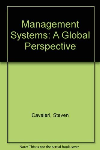 9780534925116: Management Systems: A Global Perspective