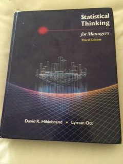 9780534925611: Statistical Thinking for Managers (Duxbury Series in Statistics and Decision Sciences)