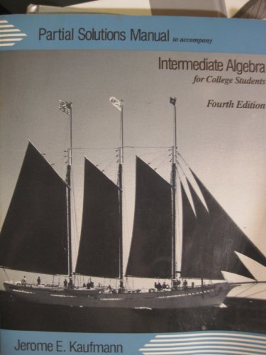 9780534928599: Intermediate Algebra for College Students: Students' Manual to 4r.e