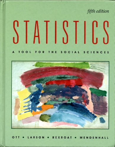 9780534929312: Statistics: A Tool for the Social Sciences (Duxbury Series in Statistics and Decision Science)
