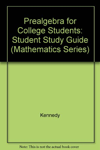 9780534930585: Prealgebra for College Students (Mathematics Series)