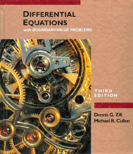 Differential Equations With Boundary-Value Problems (The Prindle, Weber & Schmidt Series in ...