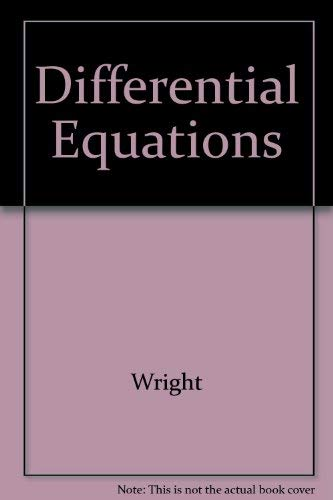 9780534931599: Differential Equations