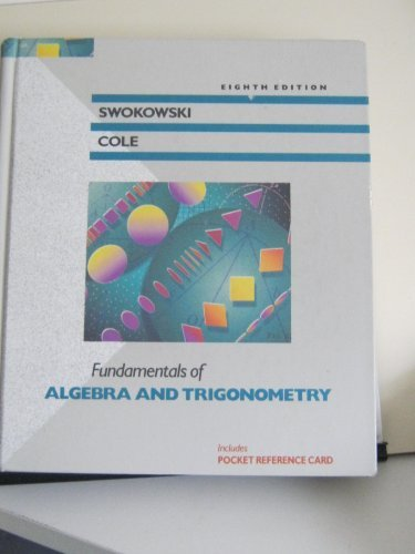 9780534931971: Fundamentals of Algebra and Trigonometry (The Prindle, Weber & Schmidt Series in Mathematics)