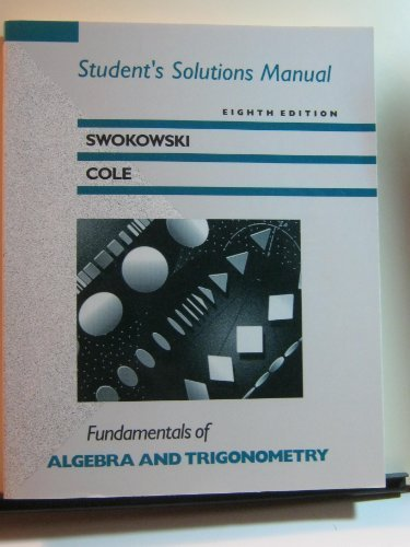 9780534932008: Fundamentals of Algebra and Trigonometry