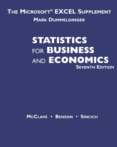 9780534933043: Study Guide Fo Statistics for Management and Economics