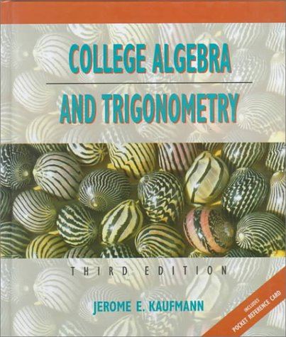 9780534935252: College Algebra and Trigonometry/Includes Pocket Reference Card (Mathematics)