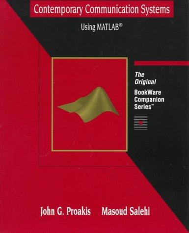 9780534938048: Communication Systems Using MATLAB (BookWare companion series)
