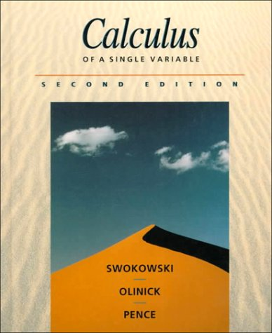 9780534939243: Calculus of a Single Variable