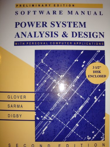 9780534939625: Software Manual for Power System Analysis and Design
