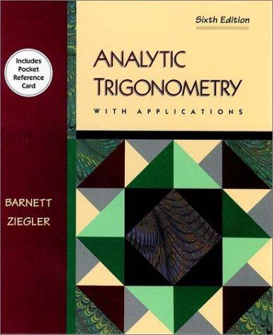 9780534943448: Analytical Trigonometry With Applications (Mathematics)