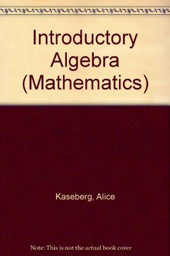 9780534943967: Introductory Algebra (Mathematics) Solutions Manual